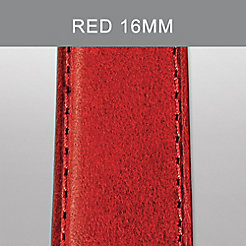 16mm Red Calf Skin Strap