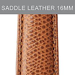 16mm Saddle Calfskin Leather Strap