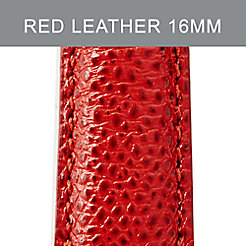 16mm Red Leather Strap