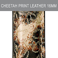 16mm Brown Cheetah Fashion Patent