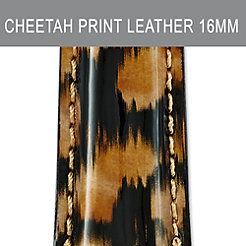 16mm Urban Cheetah Fashion Patent Strap