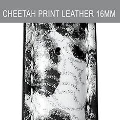 16mm Black Cheetah Fashion Patent