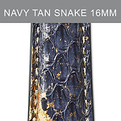 16mm Navy Tan Strap