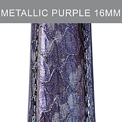 16mm Metallic Purple Snakeskin Strap