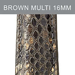 16mm Brown Multi Snakeskin Strap