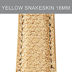 16mm Honey Gold Snakeskin Strap