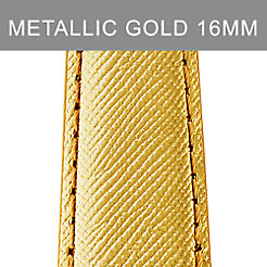 16mm Metallic Gold Leather Strap