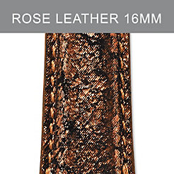 16mm Dark Rose Metallic Strap