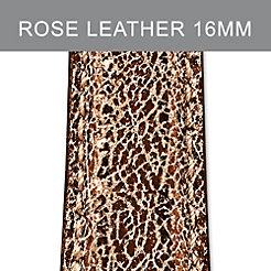 16mm Pale Rose Metallic Strap