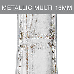 16mm Metallic Multi Fashion Alligator Strap