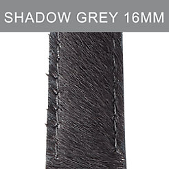 16mm Shadow Grey Pony Hair Strap