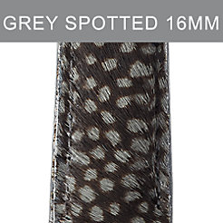 16mm Grey Spotted Pony Hair Strap