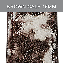 16mm Brown White Calf Hair Strap