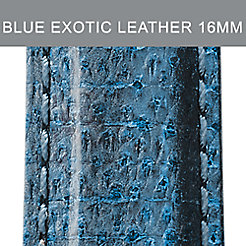 16mm Blue And Black Exotic Leather Strap