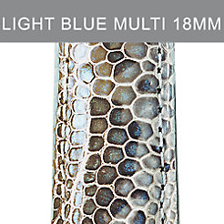 16mm Light Blue Multi Fashion Lizard Strap