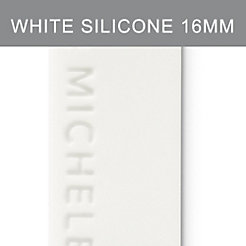 16mm White Silicone Strap