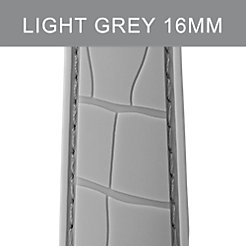 16mm Light Grey Embossed Silicone Strap