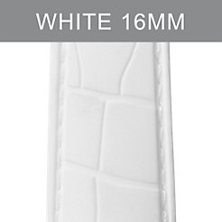 16mm White Embossed Silicone Strap