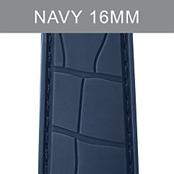 16mm Navy Embossed Silicone Strap