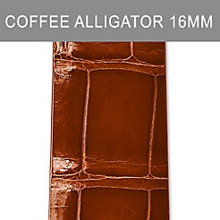 16mm Coffee Thin Alligator Strap