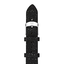 16mm Black Crystal Strap