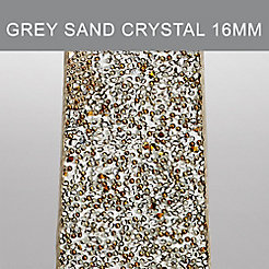 16 mm Grey Sand Crystal Strap