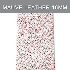16mm Pale Mauve Thin Bark Leather Strap