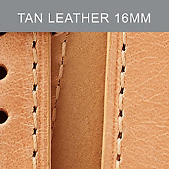 16mm Tan Leather Double Wrap Strap