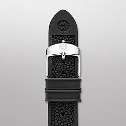 16mm Black Stingray Silicone Strap