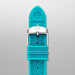 16mm Turquoise Stingray Silicone Strap