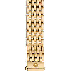 16mm Urban Mini 7-Link Gold-Plated Bracelet with Diamonds