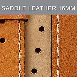16mm Saddle Topaz Leather Strap