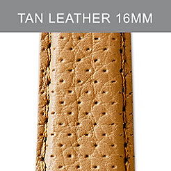 16mm Tan Perforated Leather