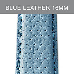 16mm Light Blue Perforated Leather