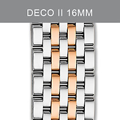 16mm Deco II Mid Two-Tone Rose Gold Bracelet
