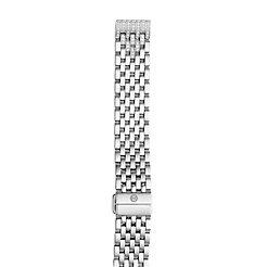 16mm Deco II Mid Diamond Taper Stainless-Steel 7-Link Bracelet