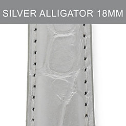 18mm Silver Alligator Strap
