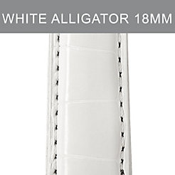 18mm White Alligator Strap
