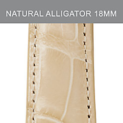 18mm Natural Alligator Strap