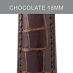18mm Chocolate Alligator Strap