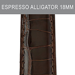 18mm Espresso Alligator Strap