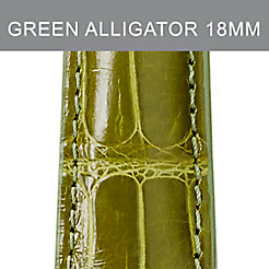 18mm Green Olive Alligator Strap