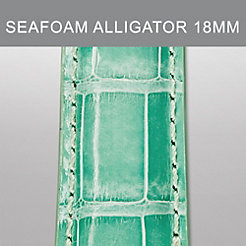 18mm Seafoam Alligator Strap