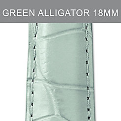 18mm Pastel Green Alligator Strap