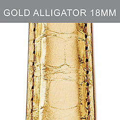 18mm Gold Metallic Alligator Strap