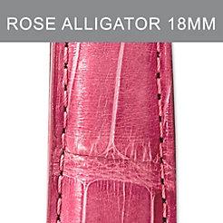 18mm Rose Alligator Strap
