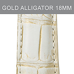 18mm Gold Wash Alligator Strap