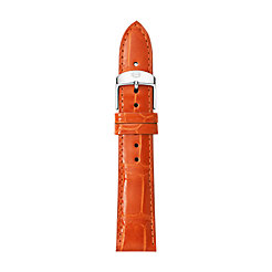 18mm Medium Orange Alligator Strap