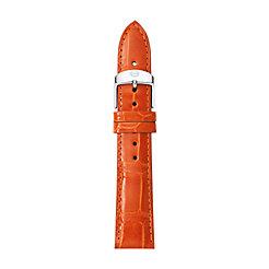 18mm Medium Orange Alligator Strap