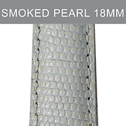 18mm Smoked Pearl Lizard Strap